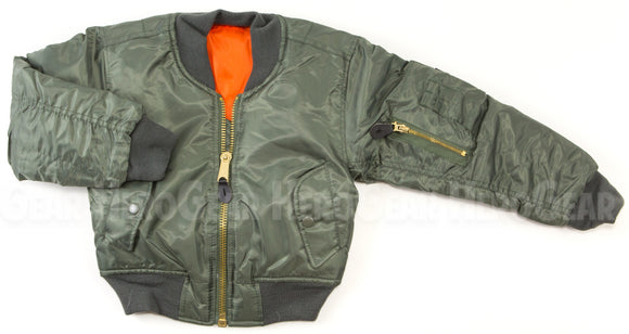 Children's MA-1 Flight Jacket WITHOUT Patches