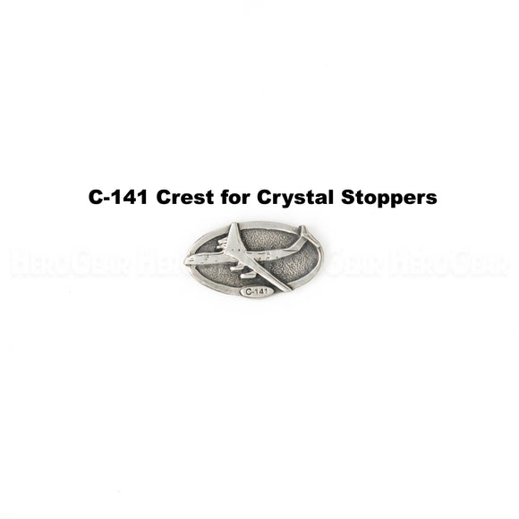 C-141 Starlifter Crystal Bottle Stoppers