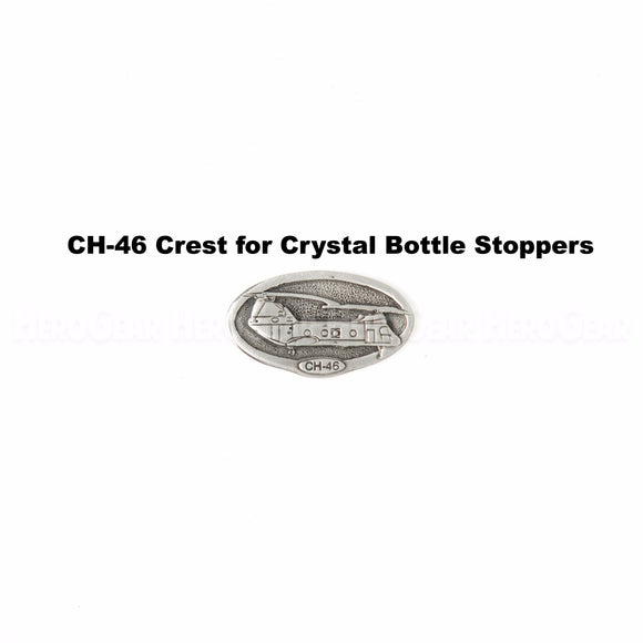CH-46 Sea Knight Crystal Bottle Stoppers