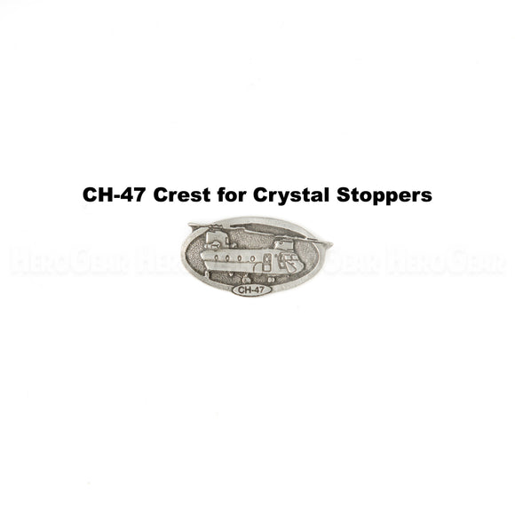CH-47 Chinook Crystal Bottle Stoppers