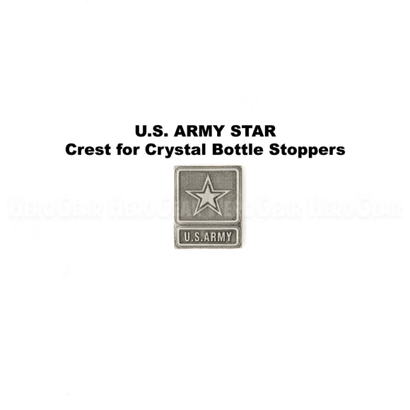 U S Army Star Crystal Bottle Stoppers