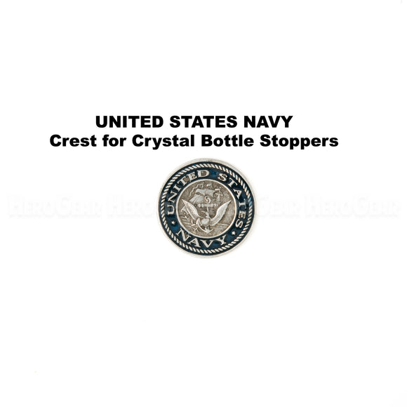 United States Navy Crystal Bottle Stoppers