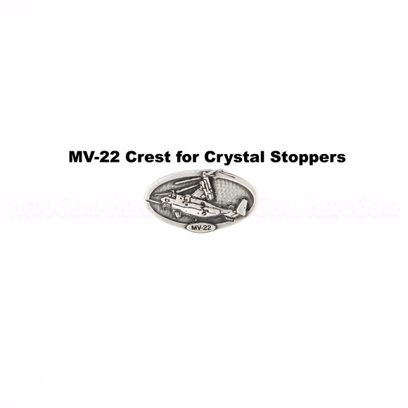 MV-22 Osprey Crystal Bottle Stoppers