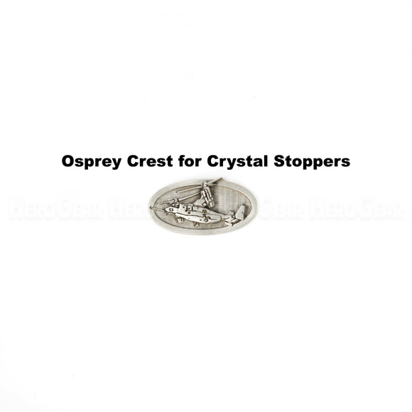 Osprey Military Aircraft Crystal Bottle Stoppers