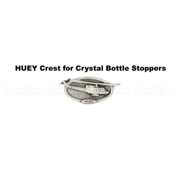 UH-1 Huey Military Helicopter Crystal Bottle Stoppers