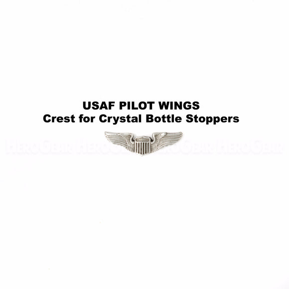 U S Air Force Pilot Wings Crystal Bottle Stoppers