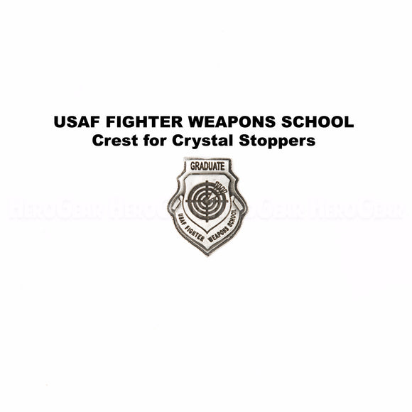 USAF Fighter Weapons School Graduate Crystal Bottle Stoppers