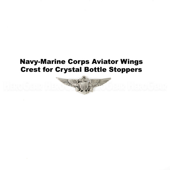 U S Navy Marine Corps Aviator Wings Crystal Bottle Stoppers