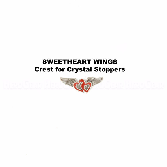 Sweetheart Wings Crystal Bottle Stoppers
