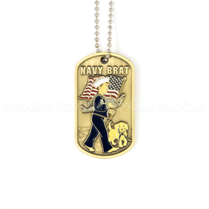 NAVY Brat Dog Tag