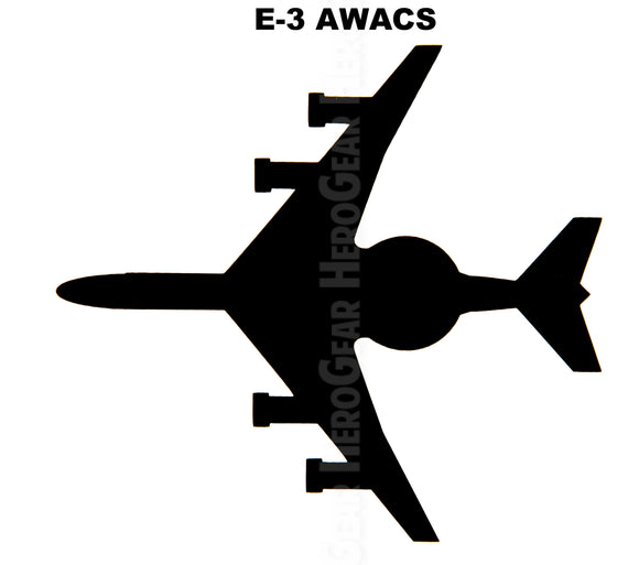 E-3 Sentry AWACS Top View Vinyl Decal