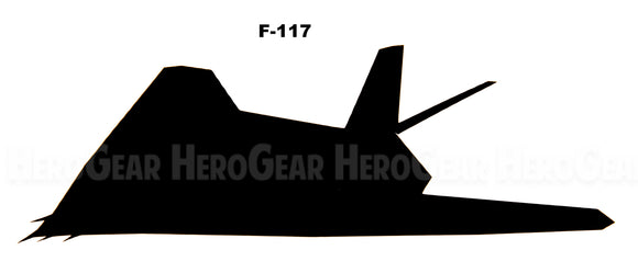F-117 Nighthawk Side View Vinyl Decal