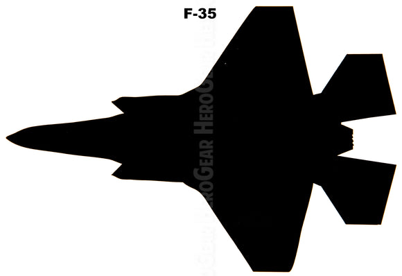 F-35 Lightning Top View Vinyl Decal