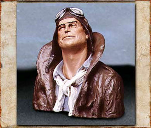 """FLYING LEATHER"" Statue - Handpainted"