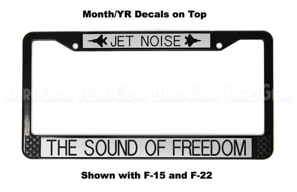 JET NOISE - THE SOUND OF FREEDOM License Plate Frame (WITH Aircraft)
