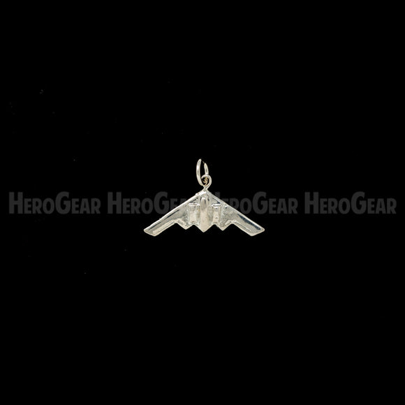 B-2 Spirit Stealth Bomber Charms, Lapel Pins, and Tie Tacks in Solid Sterling Silver