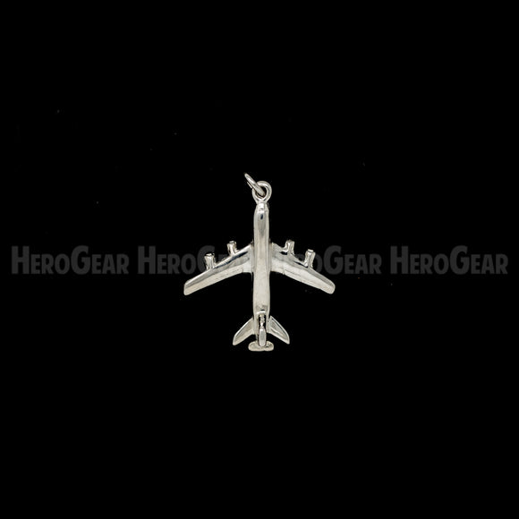 KC-135 Stratotanker with Boom Charms, Lapel Pins, and Tie Tacks in Solid Sterling Silver