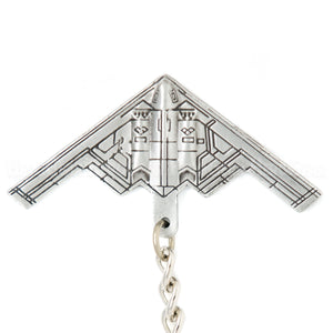 B-2 Spirit Stealth Bomber 3D Pewter Key Chain or Bag Pull