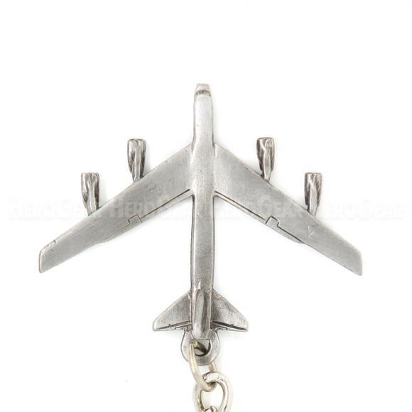 B-52 Stratofortress Bomber 3D Pewter Key Chain or Bag Pull