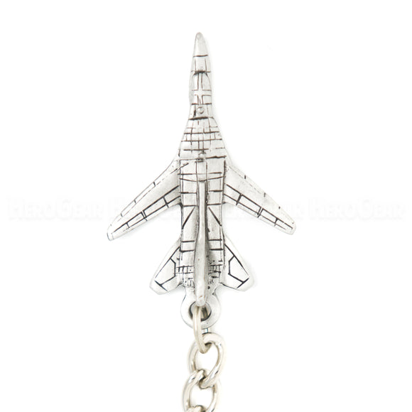 F-111 Aardvark 3D Pewter Key Chain and Bag Pull