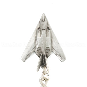F-117 Nighthawk 3D Pewter Key Chain or Bag Pull