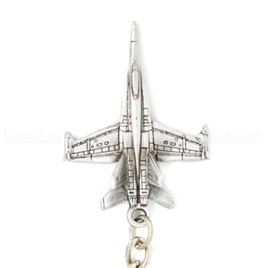 F-18 Hornet 3D Pewter Key Chain or Bag Pull