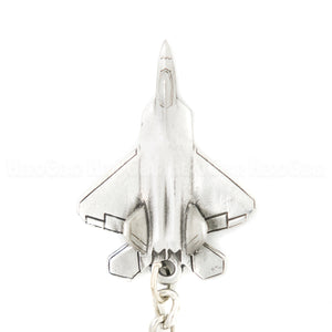 F-22 Raptor Stealth Fighter 3D Pewter Key Chain or Bag Pull