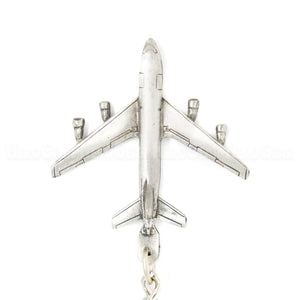 KC-135 Stratotanker With Boom 3D Pewter Key Chain or Bag Pull