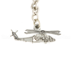 SH-60 Seahawk Helicopter 3D Pewter Key Chain or Bag Pull