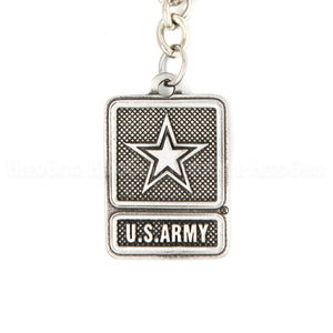 U. S. Army Star Logo Pewter Key Chain or Bag Pull