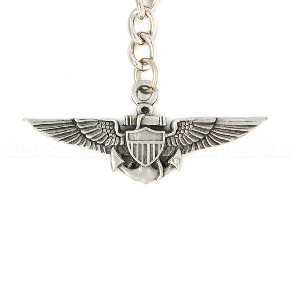 Wings - Navy Marine Corps Aviator Key Chain or Bag Pull
