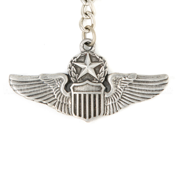 Wings - USAF Command Pilot Pewter Key Chain or Bag Pull