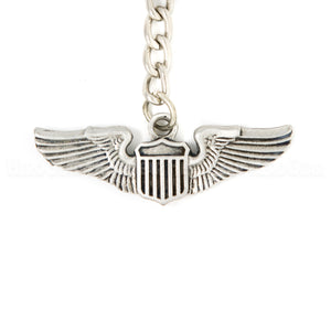 Wings - USAF Pilot Pewter Key Chain or Bag Pull