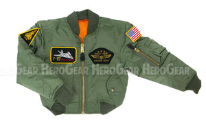 Children's MA-1 Flight Jacket WITH Patches