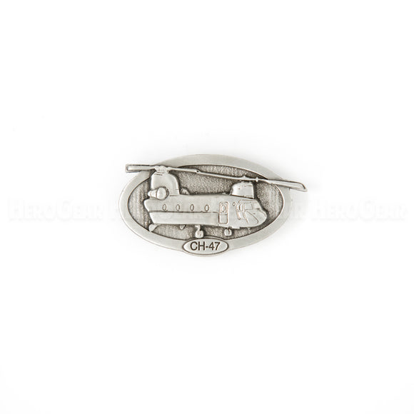 CH-47 Chinook Oval Pewter Magnet