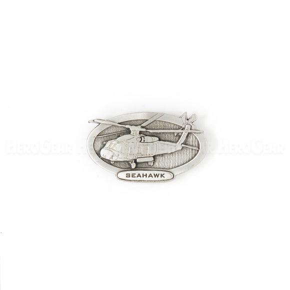 SH-60 SEAHAWK Oval Pewter Magnet