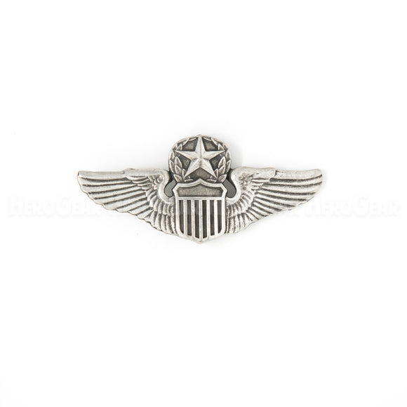 USAF Command Pilot Wings Pewter Magnet