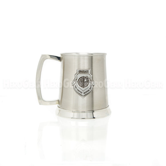 Stainless Steel Tankard, Large Crest