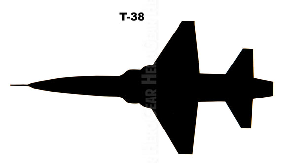 T-38 Talon Top View Vinyl Decal