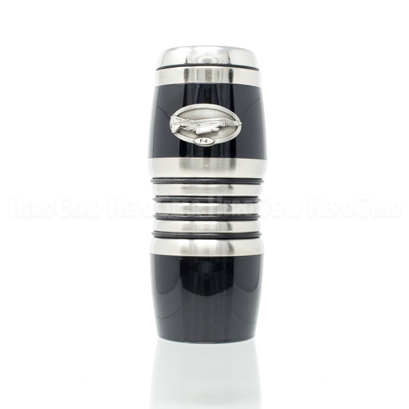Acrylic Exterior BLACK Rings Travel Mug
