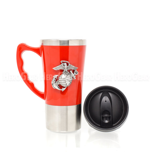 Acrylic Exterior RED Travel Mug