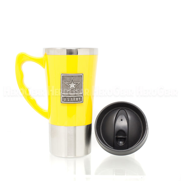 Acrylic Exterior YELLOW Travel Mug
