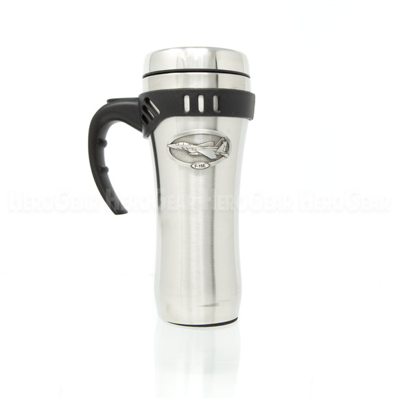 Stainless Steel Open Handle Travel Mug