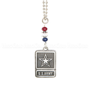 US Army Star Emblem Rear View Mirror Hanger
