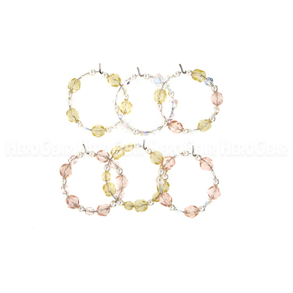 CHAMPAGNE ON ICE Czech Glass Beaded Hoops (Choose any 6 charms)