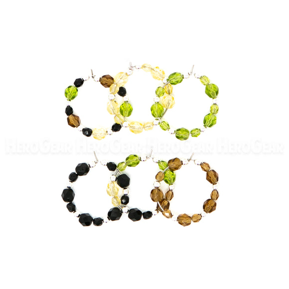 CAMO Czech Glass Beaded Hoops (Choose any 6 charms)