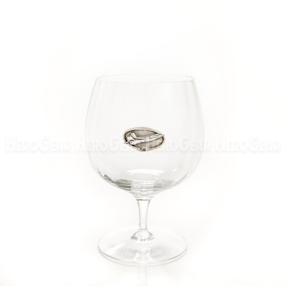 WINGS Brandy Snifter, Small Crest