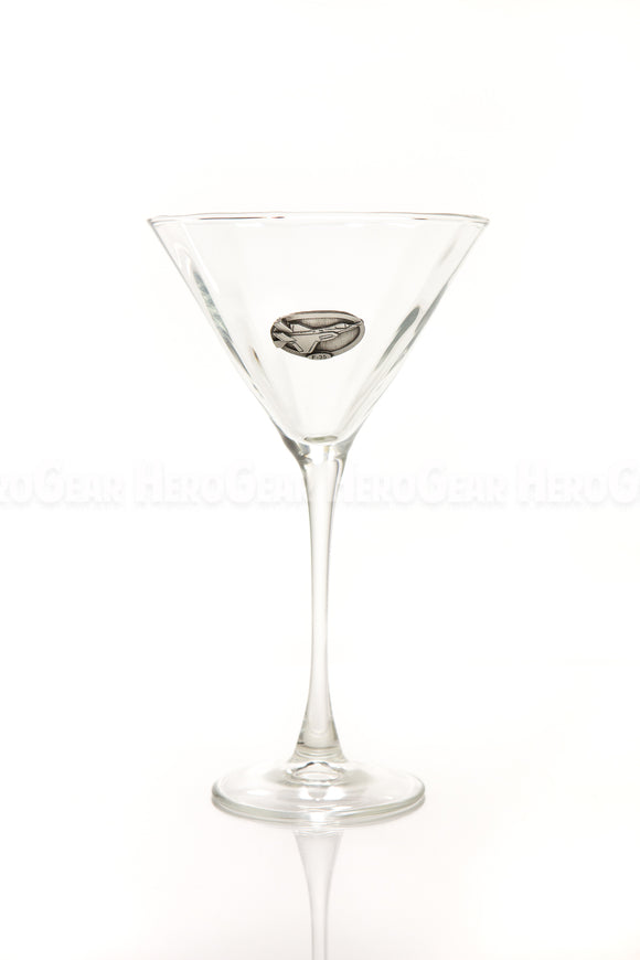 WINGS Martini Glass, Small Crest