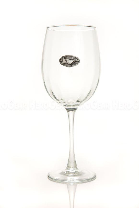 WINGS Wine Glass, Small Crest