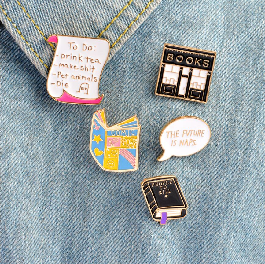 Pins and Brooches for Women | Cartoon Jewelry Shirt Pin for Jeans Decoration | ShuangShuo Enamel Pin Buckle Shirt Pins - TheGearJoint